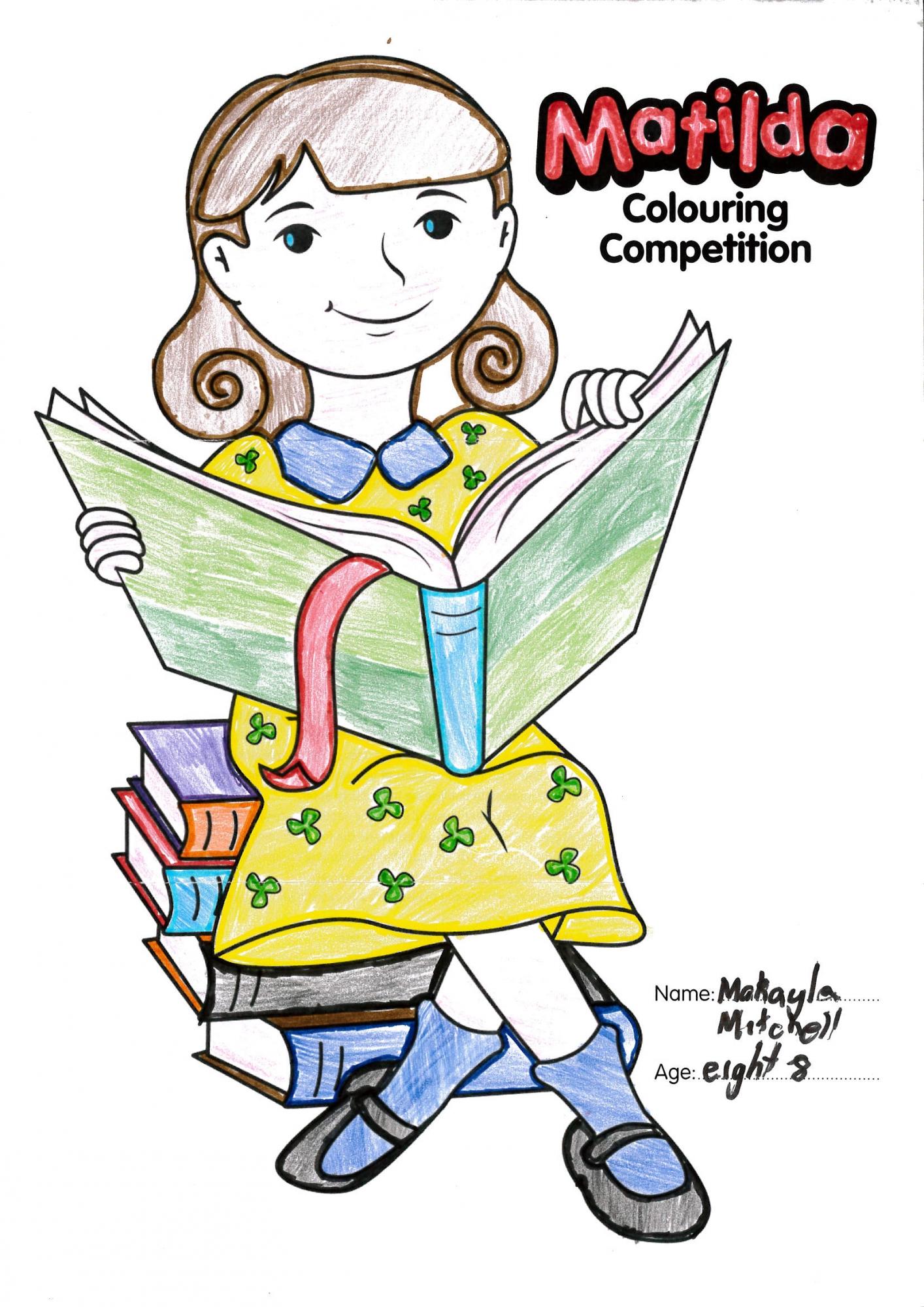 Matilda Winner Colouring